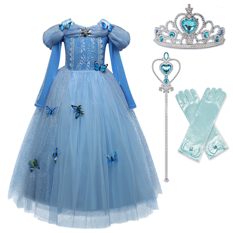 Girls Princess Costume For Kids Halloween Party Cosplay Dress Up Children Disguise Fille 6