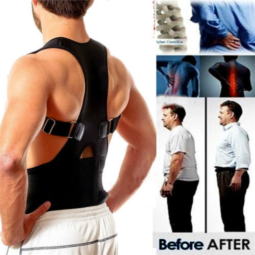 Magnetic Posture Corrector For Women Men Orthopedic Corset Back Support Belt Pain Back Brace Support Belt Magnets Therapy B002
