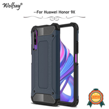 For Huawei Honor 9X Case Shockproof Armor Rubber Hard Phone Protective Cover Fundas