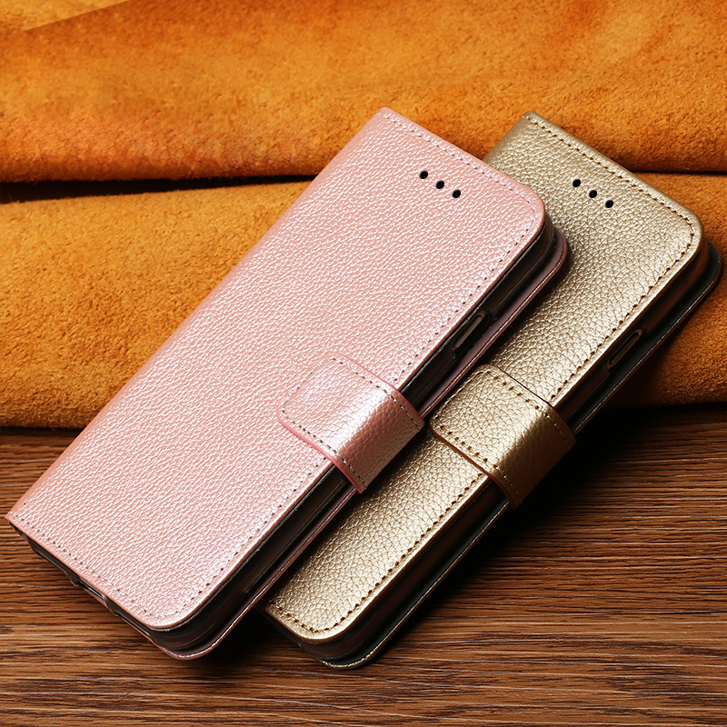 Flip Case For Samsung S6 S7 edge S8 S9 S10 Plus A30 A50 A70 Litchi Texture cover For Note 8 9 10 A5 A7 A8 2018 J5 J7 2017 case in Flip Cases from Cellphones Telecommunications