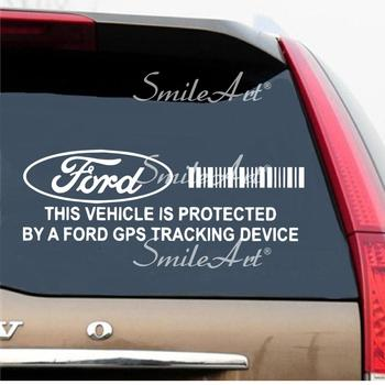 Ford Car Brands GPS Tracking Device Security Stickers For Car Window Decal Vinyl Art Pattern Art Car Body Sticker image