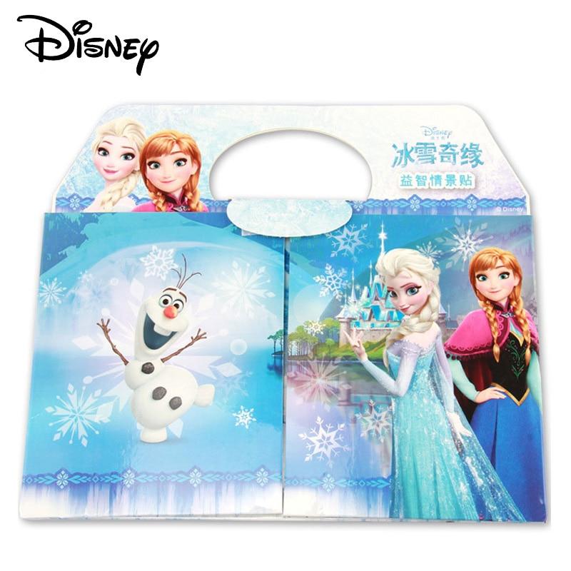 Disney Kids DIY Sticker Frozen Puzzle Handmade Stickers For Children Book Bubble Sticker Cartoon Pegatinas Autocollant Enfant