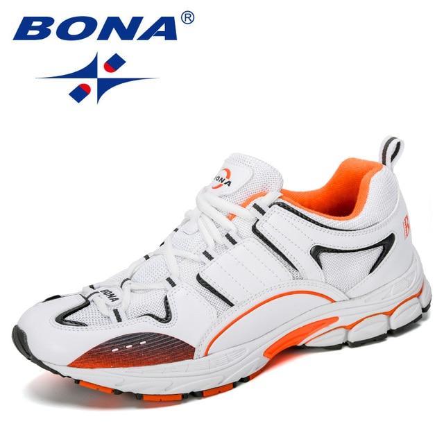 بونا 2019 المصممين الجدد شعبية أحذية رياضية الرجال احذية الجري في الهواء الطلق المشي أحذية رياضية لينة وحيد الرجال krasovk الركض الأحذية