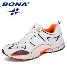 BONA 2019 nouveaux Designers baskets populaires hommes chaussures de course en plein air marche chaussures de Sport semelle souple hommes krasovk chaussures de jogging