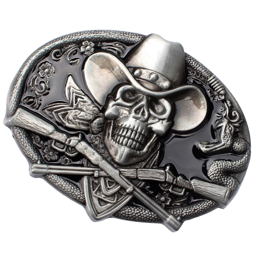 Men Belt Buckle Skull Head With  Belt Buckle Biker Men Rodeo Jewelry