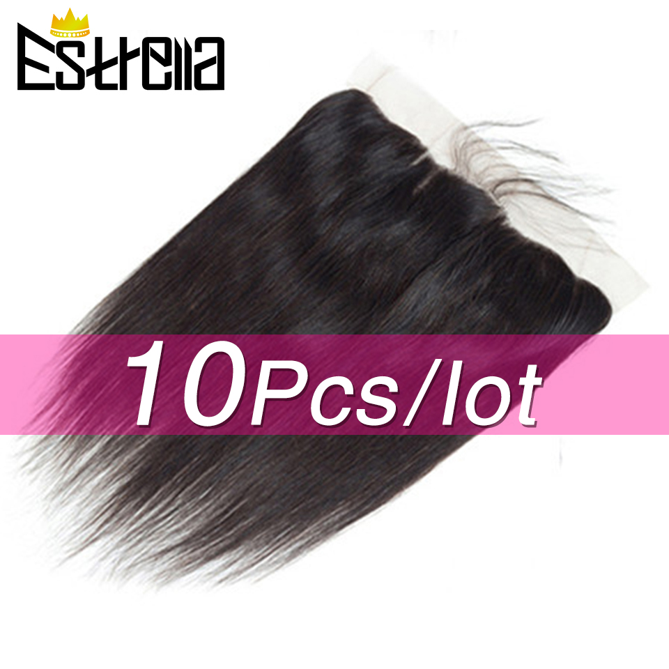 13x4 Ear To Ear Lace Frontal Closure Straight Frontal Brazilian Remy Human Hair Frontal With Baby Hair 60-80g Swiss Lace Frontal