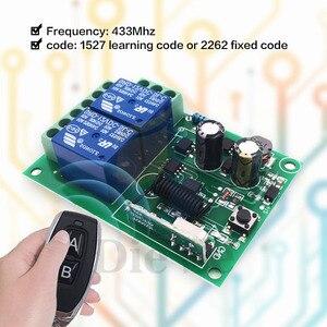 Image 3 - 433 MHz kablosuz evrensel uzaktan kumanda anahtarı AC 110V 220V 2CH rf röle alıcı ve verici garaj ve kapı kontrolü
