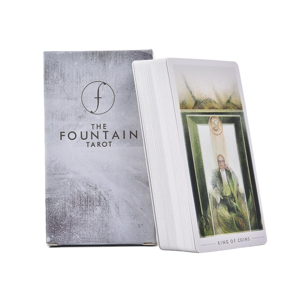 79PCS The Fountain Tarot Cards Deck Board Games Guidebook Silver-gilded Table Game Cards For Family Gathering Party Playing Card