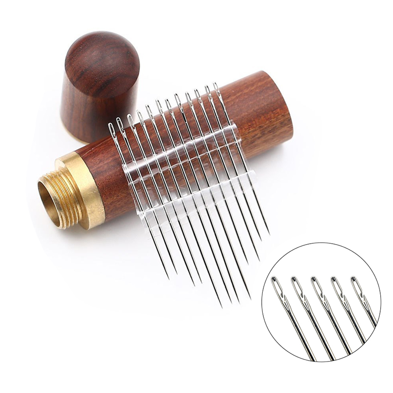 12 Pcs/set Elderly Needle-side Hole Blind Needle Hand Household Sewing Stainless Steel Sewing Needless Threading Apparel Sewing 1