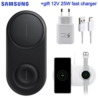 Samsung Original 25W Fast Wireless Charger 2.0 Duo Pad For Samsung Galaxy S10 S10+ S10E Galaxy Watch Active Galaxy Gear S4 S3