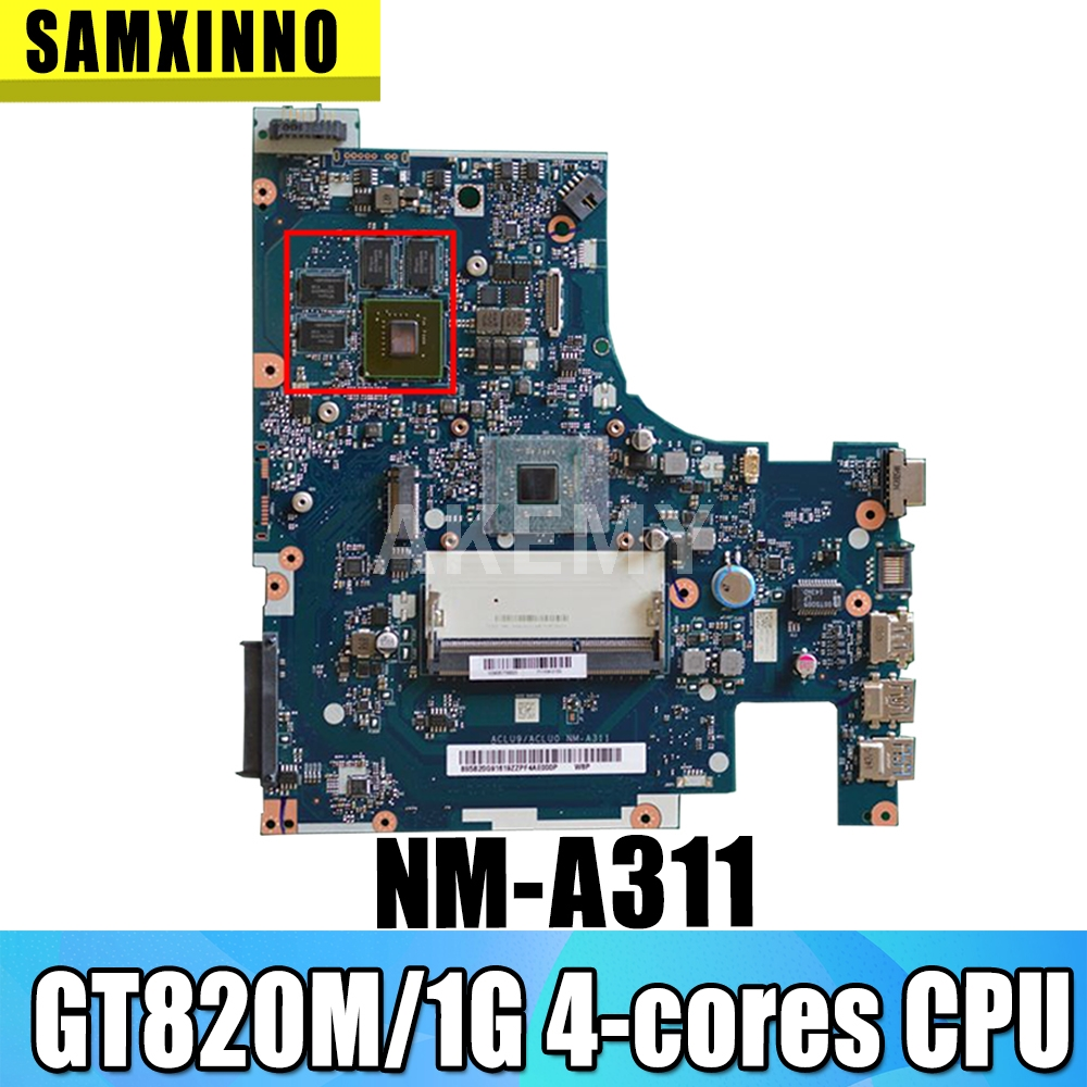 ACLU9 ACLU0 NM-A311 motherboard For Lenovo G50-30 notebook motherboard N2930/N2940 4 cores GT820M 1G DDR3 100% test work