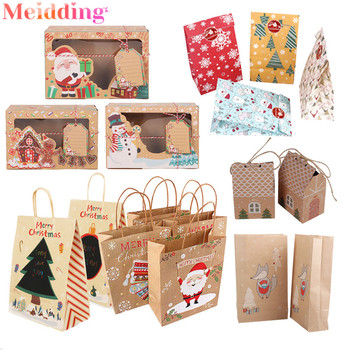Christmas Bags Candy Boxes Christmas Tree Gift Bags Xmas Candy Bag Paper Packing Box 2020 New Year Favors Navidad Home Decor merry christmas candy gift boxes deer xmas tree guests packaging boxes gift bag christmas party favors kids gift decor