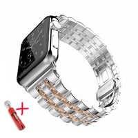 Strap Für Apple Watch Band 44mm 40mm apple watch 5 4 3 iwatch band 42mm/38mm correa edelstahl pulseira Schmetterling armband