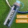 1000 мл/1500 мл портативные бутылки для воды BPA бесплатные спортивные бутылки для питья на открытом воздухе для кемпинга, велоспорта, пешего тур...