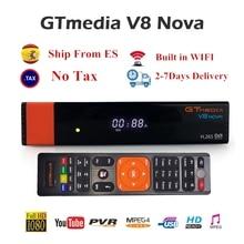 цена на GTMEDIA V8 NOVA Satellite TV Receiver DVB-S2 freesat V8 Super built-in WIFI H.265 Support Free Europe cline Optional TV Box