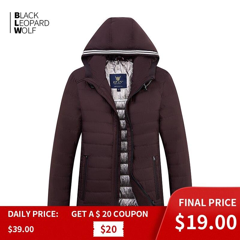 Blackleopardwolf 2019 nova chegada primavera para baixo jaqueta de alta qualidade grosso algodão balck cor pato para baixo casaco primavera ZC-C5612