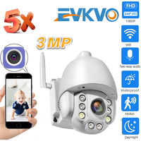 EVKVO 5X Optical Zoom Wireless PTZ IP Camera Wifi 3MP Two Way Audio Outdoor Video Surveillance Home Security Camera P2P CamHi