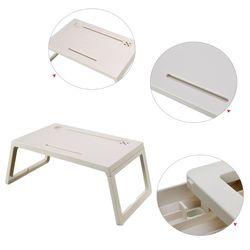 Składany stolik na laptopa do notebooka ciężki ładunek stojak na biurko komputerowe łóżeczko śniadaniowe do sypialni gabinet