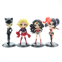 15cm Super Heroes Action Figure Toys Wonder Cat Wonder Woman PVC Anime Figure Heroine Girl Collectible Model Toy Gift super sonico racing girl ver sexy anime figure maxfactory mf pvc action figure collectible model toys super orbital girls band