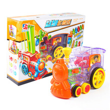 Train-Toy-Set Domino Colorful Building-Blocks Electric-Train-Model Rally with 60pcs Game