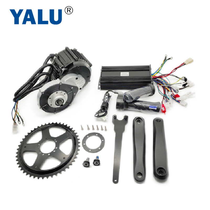YALU MOTOR Conversion Kit with controller maintenance-free Mid Drive Motor Kit 800W 1000W DIY Mountain Bicycle BLDC Middle Bike