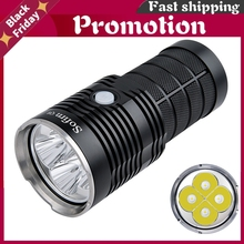 Newest Q8 4*Xpl Hi 5000lm Powerful Led Flashlight 18650 Multiple Operation Procedure Super Bright Torch Ipx8