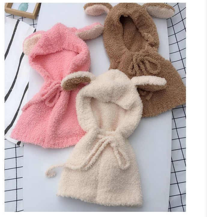 ทารกแรกเกิด Cloak Outerwear ถ่ายภาพเสื้อผ้าหมวกผ้าพันคอเด็กผู้หญิงเสื้อคลุมขนสัตว์เด็กทารกฤดูหนาวเสื้อผ้า 8- 36 เดือน