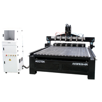 Multi heahs 4 axis rotary round wood cnc engraving machine 3 axis cnc router machine for woodworking