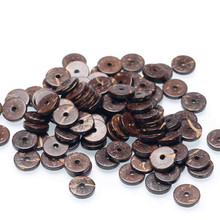 Lucido guscio di noce di cocco rotondo marrone guscio di noce di cocco per i monili di DIY che fanno i braccialetti 100 perline setti perline
