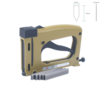 Meite HM515 Frame Gun Nailer With 1000pcs Nails Manual Flex Point Tacker Framing Tools Tacker  Gun Used for Frame Back Fix conventional manual call point