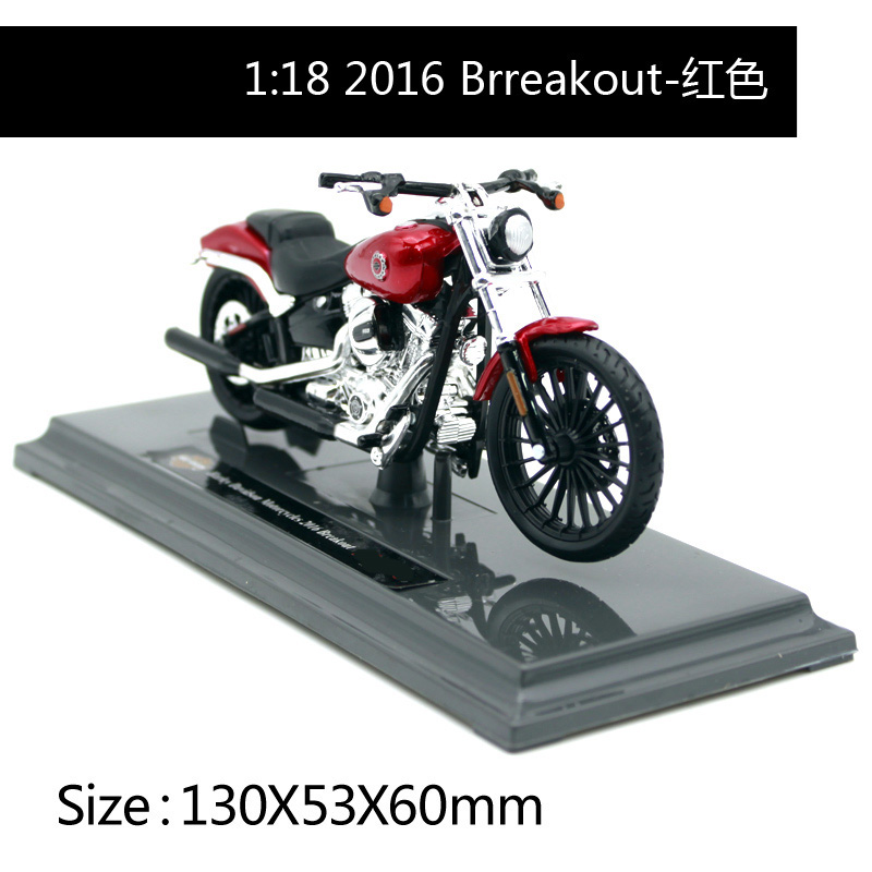 Maisto 1:18 Harley Davidson 2016 Breakout Motorcycle Metal Model Toys For Children Birthday Gift Toys Collection