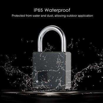 New Door Luggage Lock Fingerprint Smart Lock USB Rechargeable 2 Keys/10 Sets Fingerprints Waterproof Anti-Theft Security Padlock