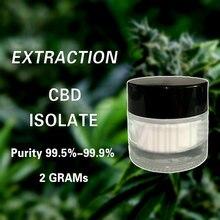 100% 2 grammes d'extrait de fleur de chanvre naturel, Type de poudre, Soluble dans l'huile, meilleur pour la douleur et l'insomnie, anti-anxiété
