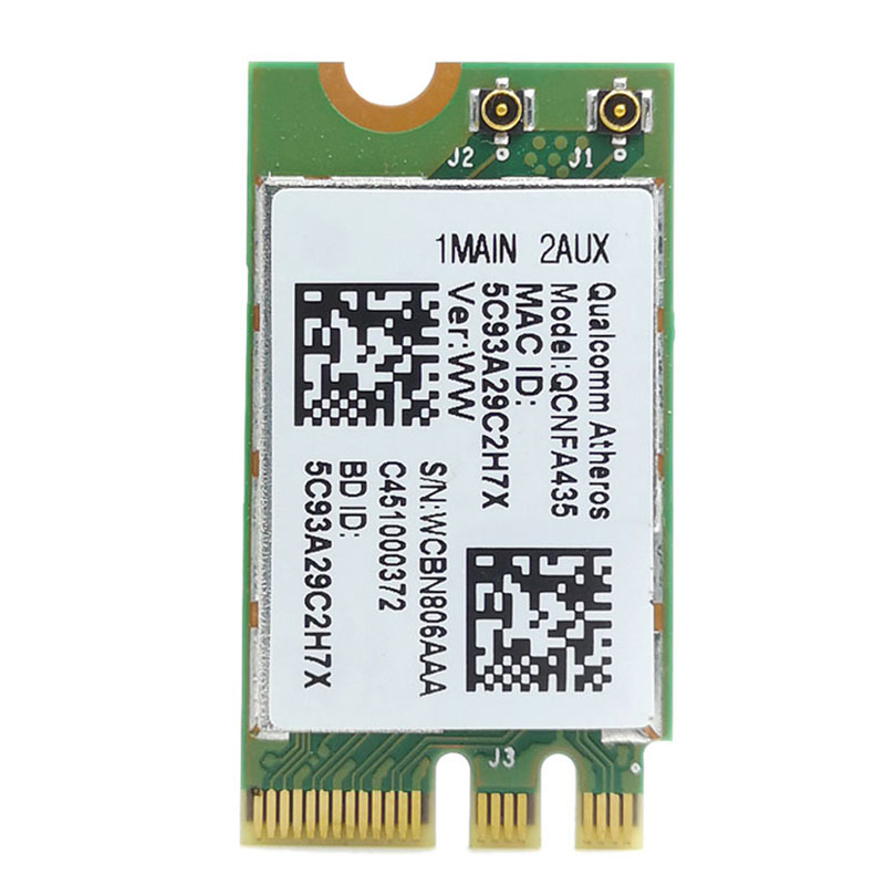 Wireless Adapter Card For Qualcomm Atheros QCA9377 QCNFA435 802.11AC 2.4G/5G NGFF WIFI CARD Bluetooth 4.1