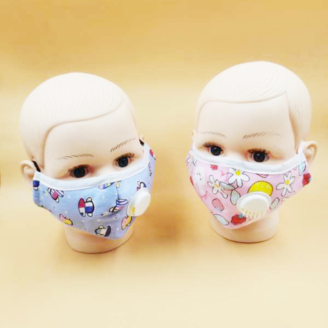 Adult/Child Cotton PM2.5 Anti Flu Haze Mask Breath Valve Anti-dust Face Mask Activated Carbon Filter Respirator Mouth-muffle 3