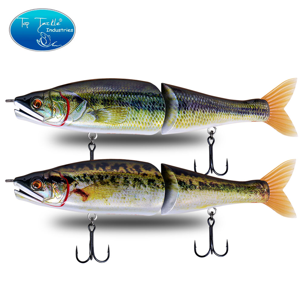 Hot New 220mm 9 Baby Bass Color CF.LURE PILUM Segments Slide Jointed Baits Swimbaits Pike Fishing Lures 5 Colors