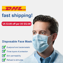 Surgical mask medical face mask anti virus 3-ply medical N95 mask 50pcs pm2.5 Disposable Anti Virus Face Masks DHL Free shipping