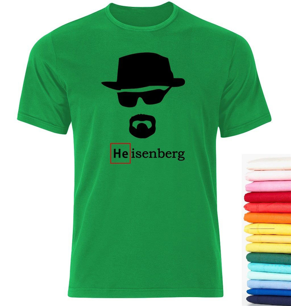 Heisenberg Breaking Bad Walter White Fan T Shirt Smlxlxxl Loose Size Tee Shirt image