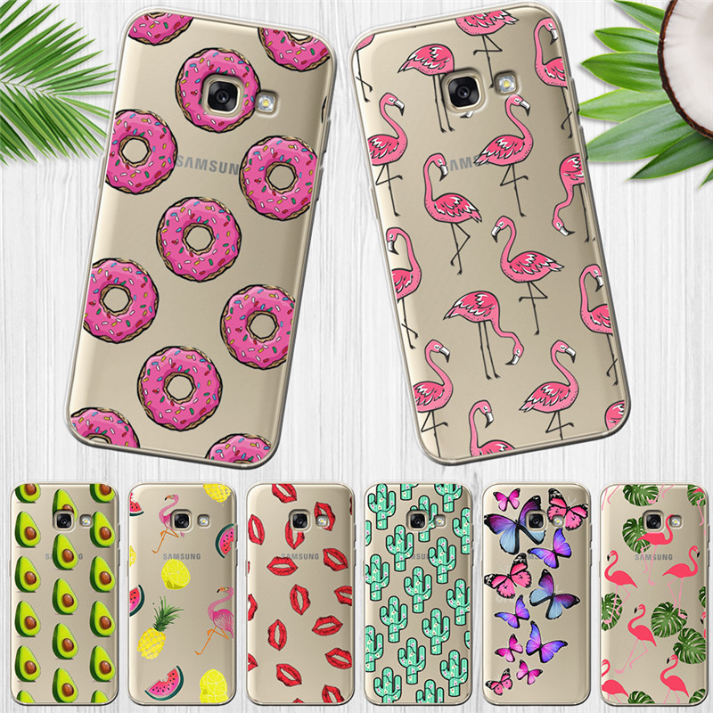 Flamingo luxury For <font><b>Samsung</b></font> Galaxy <font><b>A9</b></font> A8 A7 A6 A5 A3 A10 A30 A20 A50 A70 A60 A40 A20E <font><b>2016</b></font> 2017 2018 Cover Case Funda Coque Etui image