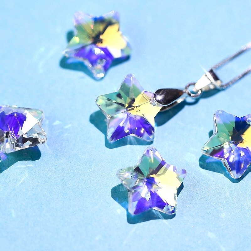 Glass Earrings Crystal-Beads Necklaces Jewelry-Making 14mm Single-Hole for Best-Quality