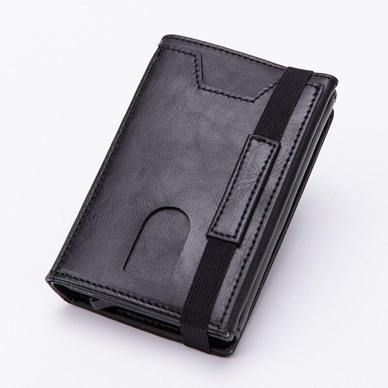 Carteiras e Zíper Clipe de Cartão de Fibra de Carbono Case de Cartão de Crédito Titular de Alta Novo Rfid Bloqueio Anti-roubo Moeda Bolsa Qualidade 2020