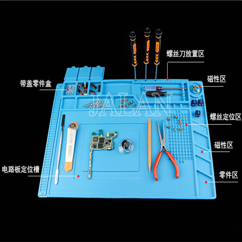 Mobile phone BGA soldering repair work platform S-110 S-120 S-130 S-140 S-150 S-160 S-170 S-180 Heat Insulation Silicone Pad image