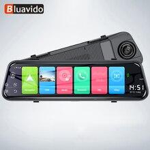 Bluavido caméra de tableau de bord avec rétroviseur, 10 pouces, enregistreur 4G, Android 8.1, GPS, FHD 1080P, ADAS, DVR, détecteur pour voiture, wi fi, Bluetooth
