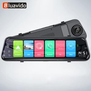 Image 1 - Bluavido caméra de tableau de bord avec rétroviseur, 10 pouces, enregistreur 4G, Android 8.1, GPS, FHD 1080P, ADAS, DVR, détecteur pour voiture, wi fi, Bluetooth