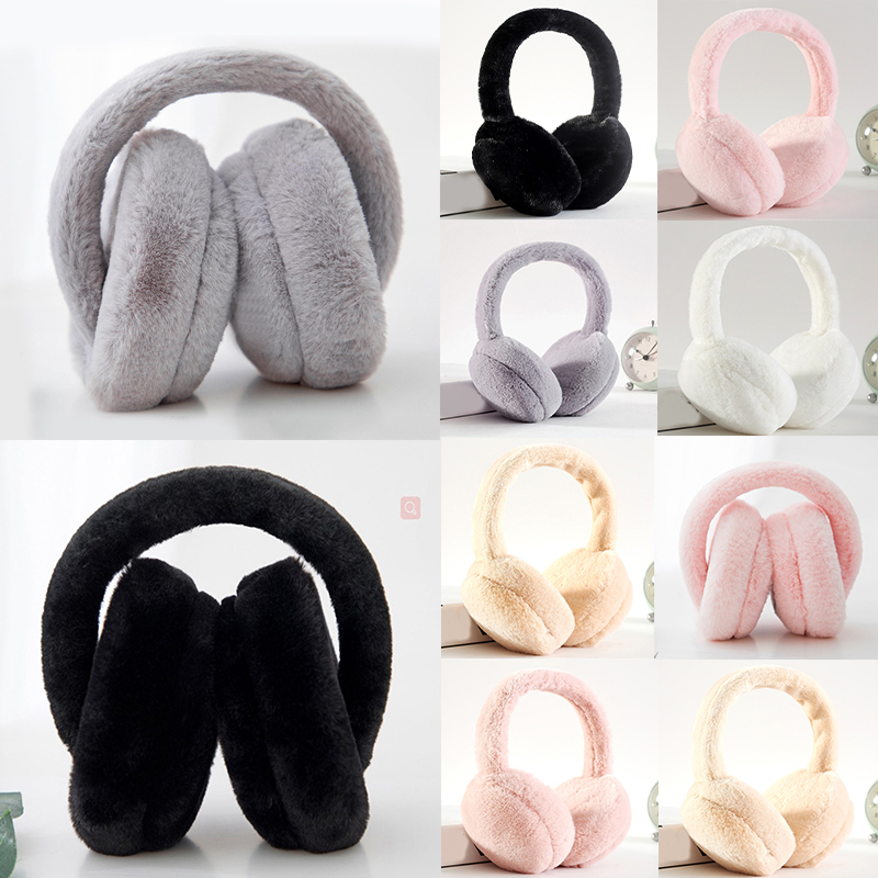 2019 Ladies Winter Plus Fur Thickening Earmuffs Ear Warm Earmuffs Windproof Ear Bag Fur Headphones Ear Muffs Orejeras
