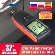 VDIAGTOOL VC200 kalınlık ölçer test cihazı araba boyası test cihazı arkadan aydınlatmalı ekran ölçüm Fe/nFe araba filmi kalınlık ölçer