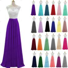 A line Chiffon Lace Sashes Scoop neck elegant off-shoulder bridesmaid dresses Wedding party robe de soiree Up