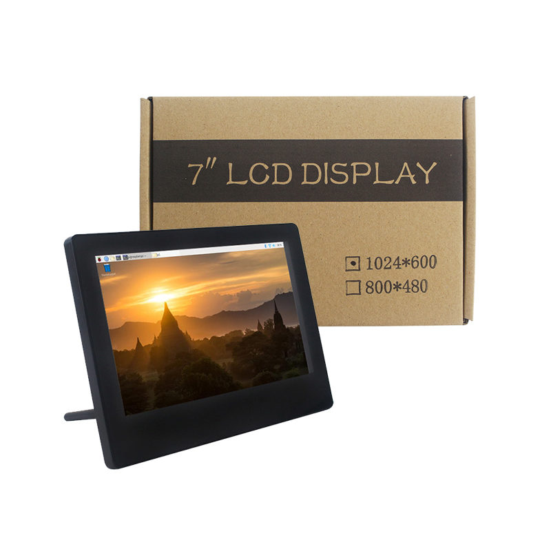Raspberry Pi 4B 7inch HDMI Touch Screen Adjustable Brightness Display IPS 1024x600 USB Capacitive Touch LCD For Raspberry Pi 3B+