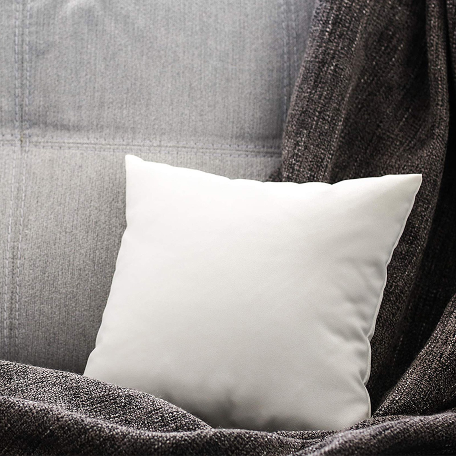 Подушка для изголовья кровати, Нетканая подушка, шерстяная подушка с наполнителем, квадратная подушка, тканевая Подушка, однотонные подушк...