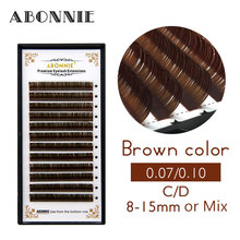 0.10 C D False Eyelashes Individual Eyelash Extension Color Fake Eye Lashes Mink Eyelash Extension 100% real Dark Brown